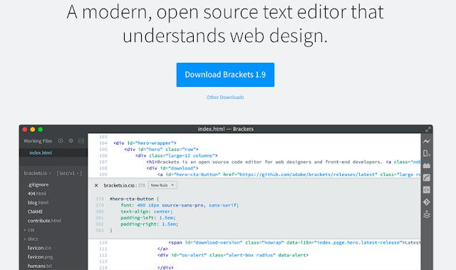 Bracket - Editor kode HTML untuk MAC