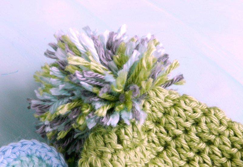 Baby Boy Hats: Crochet Bear and Pom- Grow Creative