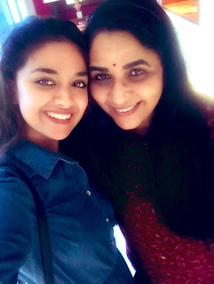 Keerthy Suresh in Blue Dress with Cute and Awesome Smile with Sridevi Sreedhar 1
