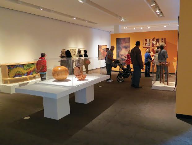 Inside the Racine Art Museum