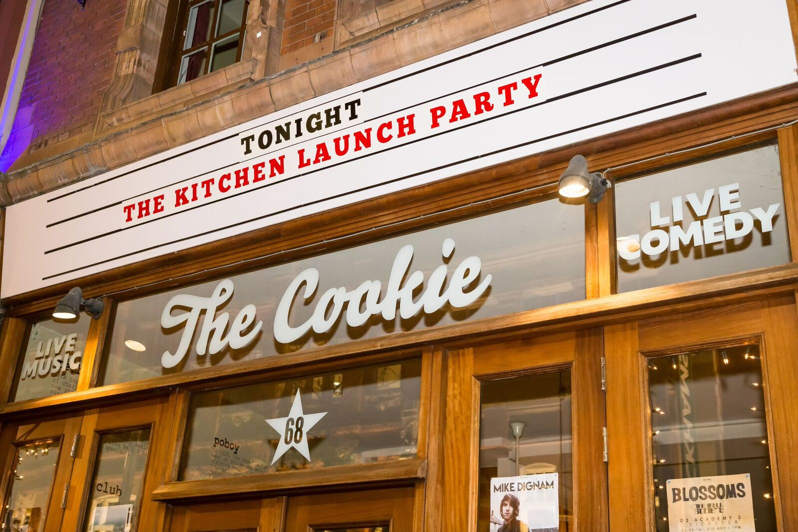 The kitchen launch party Leicester The Cookie music comedy