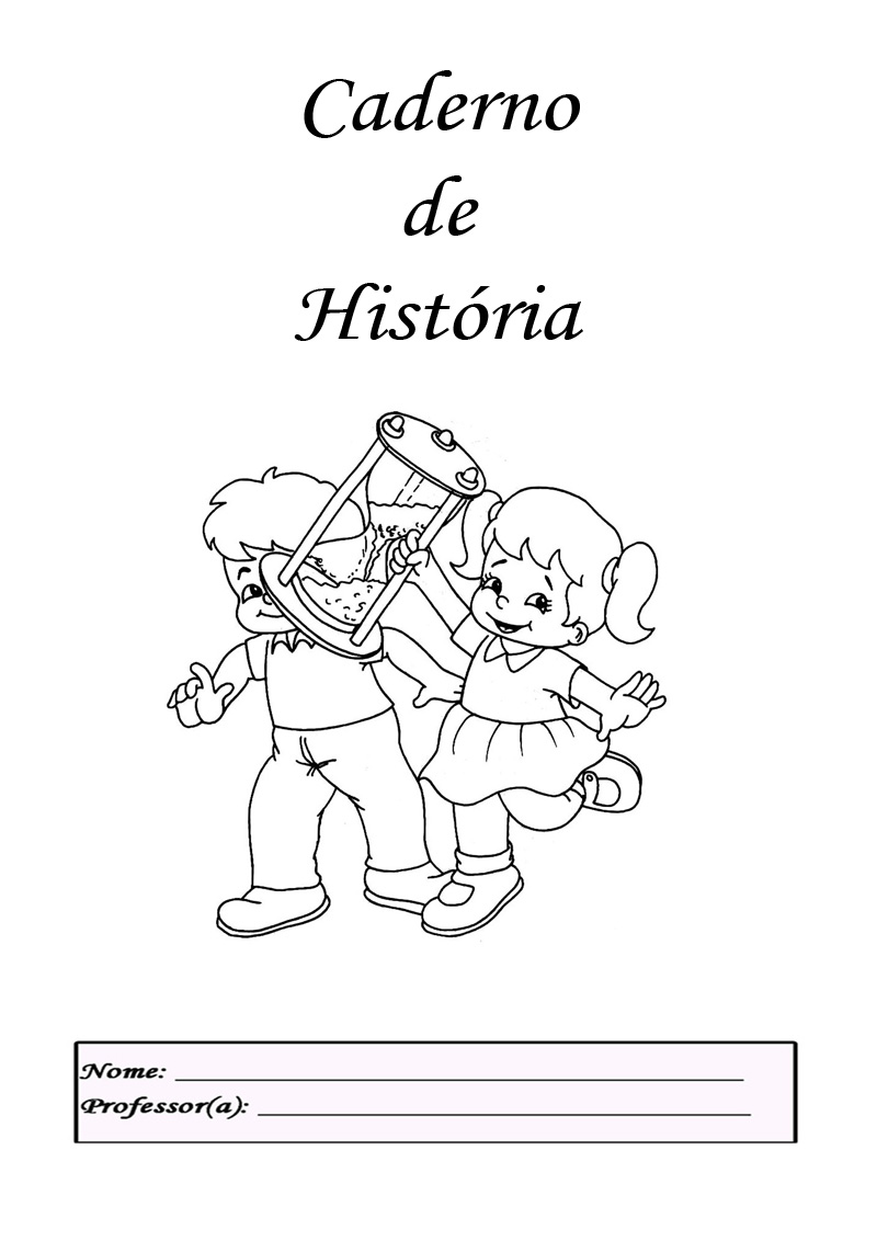 Capinhas De Cadernos Infantis Para Pintar E Imprimir Desenhos