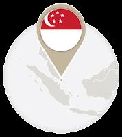 Singaporean flag and map