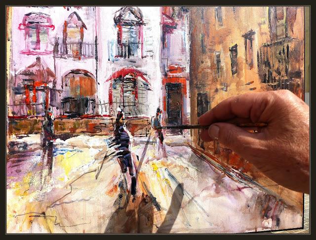 AVINYÓ-MODERNISME-ART-PINTURA-POBLES-CATALUNYA-TORRE-ABADAL-MOVIMENT-PERSONES-FOTOS-PINTANT-DETALLS-PINTOR-ERNEST DESCALS