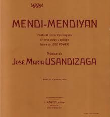 Jose Maria Usandizaga-Mendi mendiyan