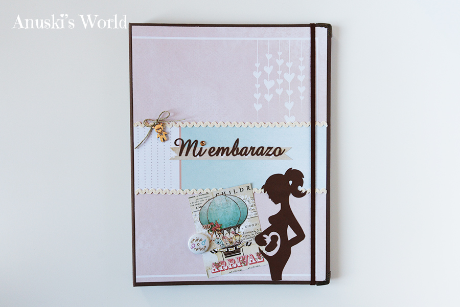 Porta documentos de embarazo personalizado para Celia - Anuski´s World