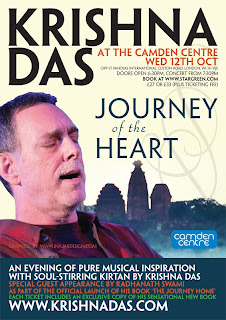 >Krishna Das is coming to London in October