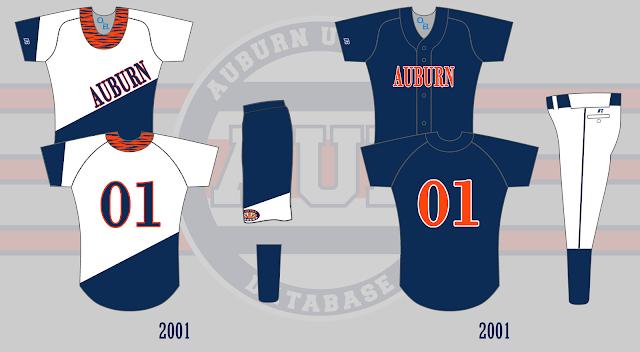 auburn softball uniform 2001