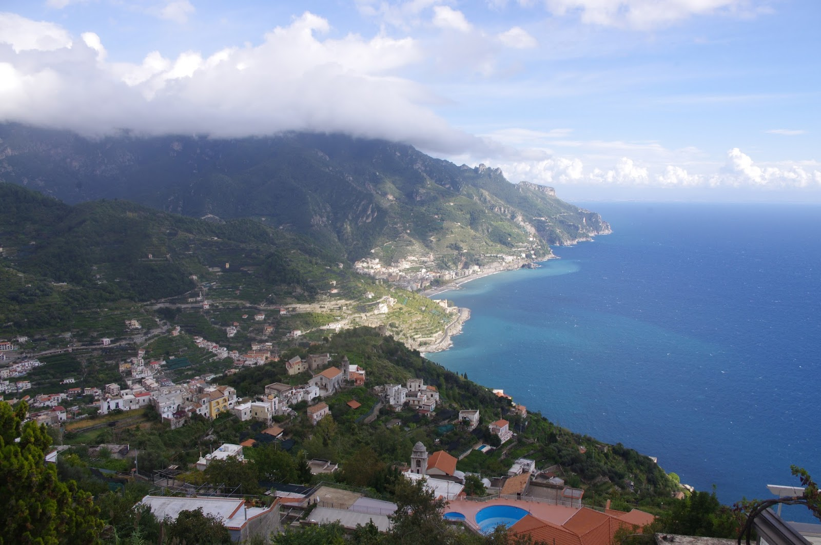 View of Amalfi Coast from Ravello