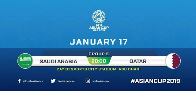 Saudi Arabia vs Qatar Live Streaming AFC 2019 ( 17.1.2019 )
