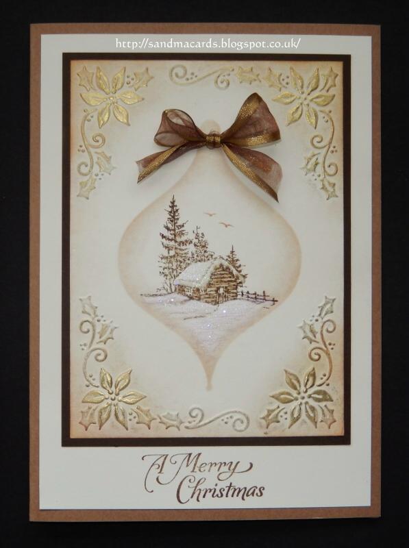 sandma's handmade cards last of the christmas samples for now