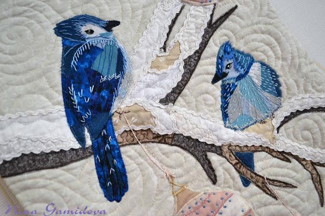 лоскутное шитье, текстильный коллаж