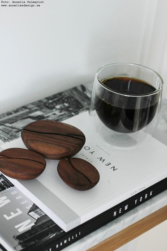 annelies design, webbutik, webbutiker, webshop, kaffeböna, kaffebönor, mugg med dubbla glas,