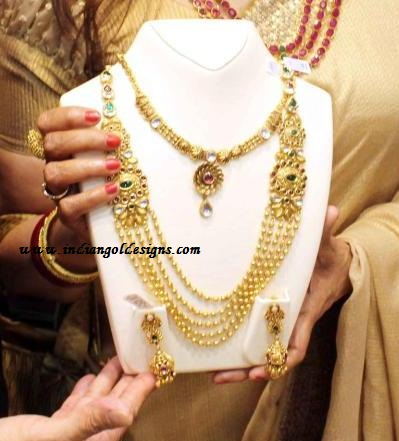 Gold and Diamond jewellery designs: malabar gold antique