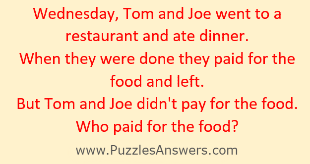 Who paid for the food ?