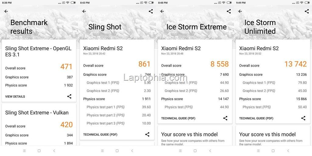 Benchmark 3DMark Xiaomi Redmi S2