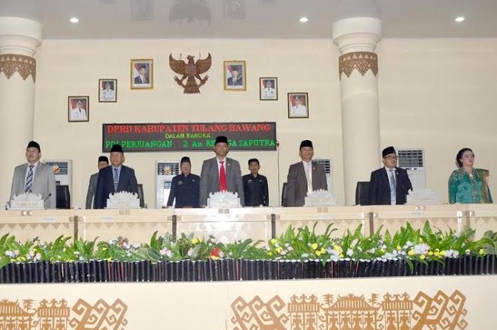 DPRD Tuba Gelar Sidang Paripurna Pengambialan Sumpah Jabatan Serta PAW.