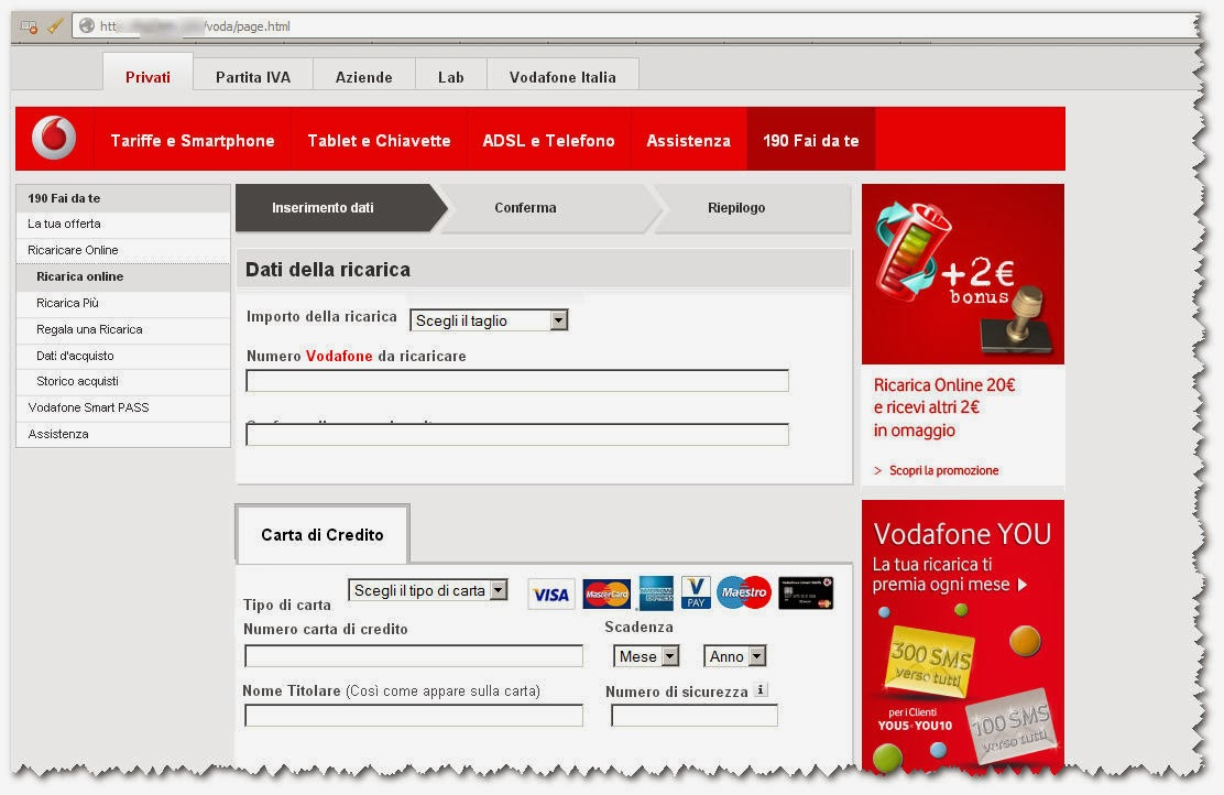 Vodafone Phishing Mail