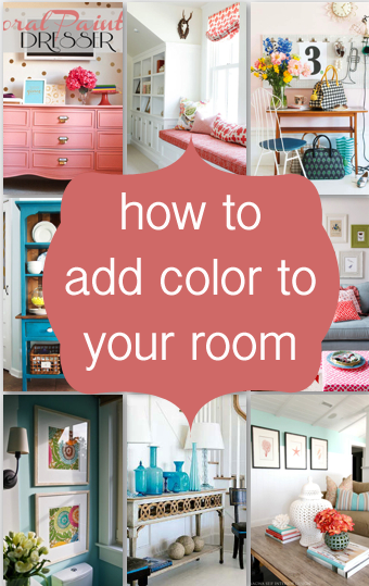 5 Ways to add Color to your Room ~ Entirely Eventful Day