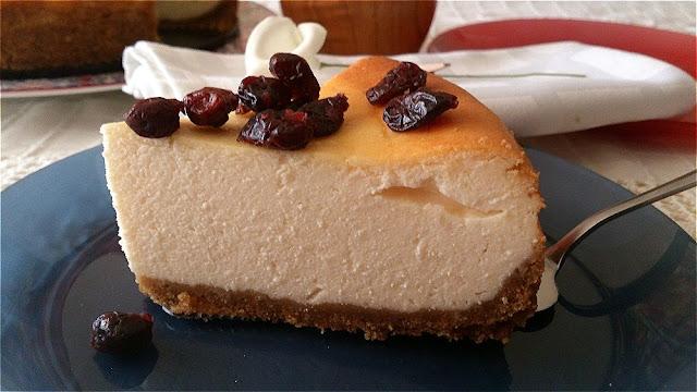 cheesecake horno tarta de queso postre cremoso arándanos lorraine pascale receta deliciosa sencilla