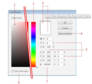 Color Picker dialog box Hộp thoại Color Picker