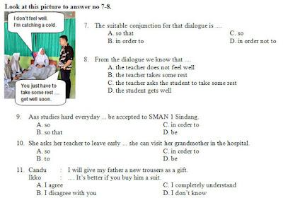 Kisi-Kisi, Soal Dan Kunci Tanggapan Pas Bahasa Inggris Smp Kelas 9 Semester Ganjil