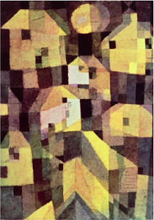 Paul Klee painting - Abstract Composition of Houses