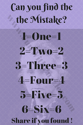 Can you find the Mistake in this picture?