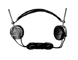 headphones antique electrical illustration clipart download