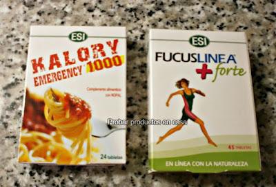 Kalory Emergency 1000 y FucusLineaForte de ESI