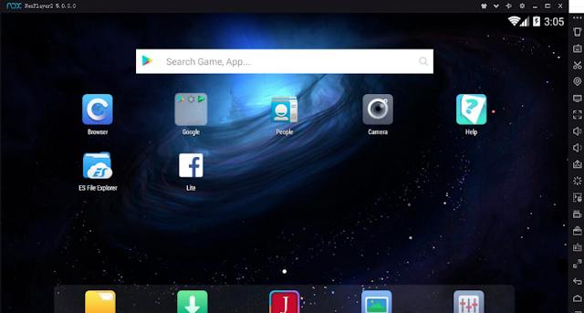 تحميل برنامج محاكي الاندرويد للكمبيوتر مجانا Nox App Player