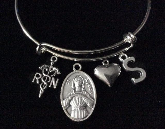 Charm Bracelet Patron Saint of Nurses