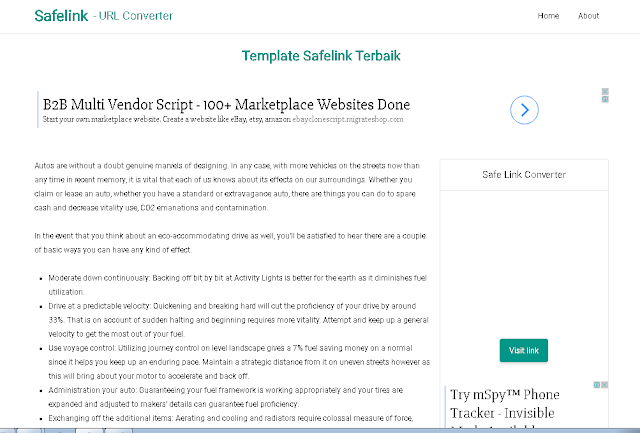 Template Safelink Blogger Terbaik