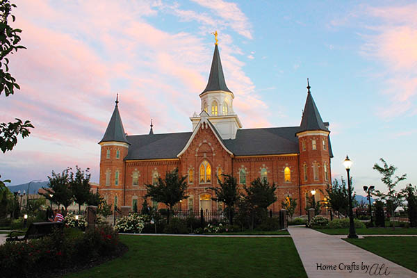 LDS Provo City Center Temple Summer Sunset