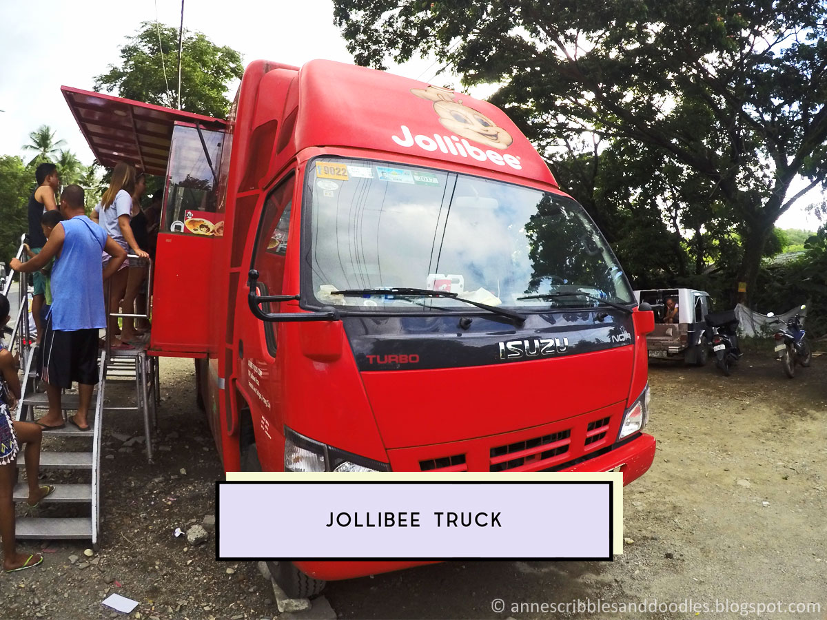 Jollibee Truck | 7 Must-See Places in Puerto Galera (Vlog, Itinerary, Budget, Where to Stay) | Anne's Scribbles and Doodles