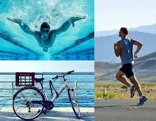 lebih sehat mana lari renang atau bersepeda