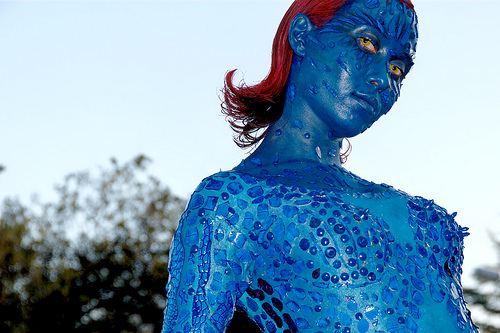 Very realistic mystique cosplay