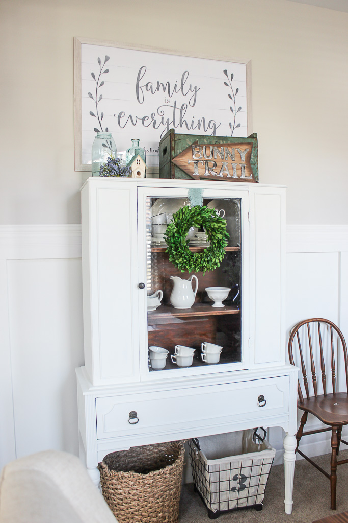 painted white hutch