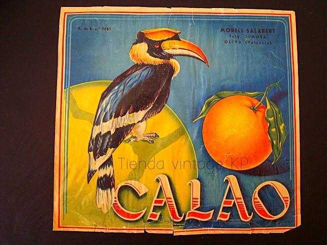 Comprar cartel antiguo para pared enmarcados. Cartel de naranjas vintage.