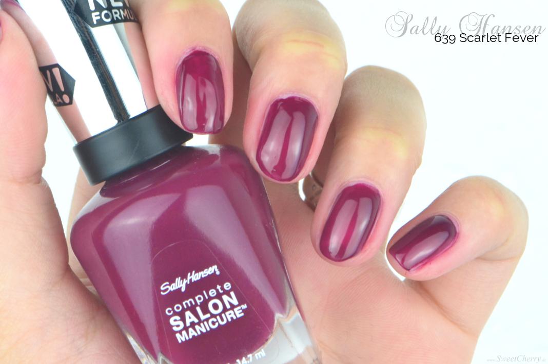 Herbst Favoriten | Dunkle Nagellacke für den Herbst Sally Hansen Scarlet Fever