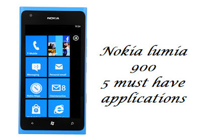 nokia lumia 900 best free applications