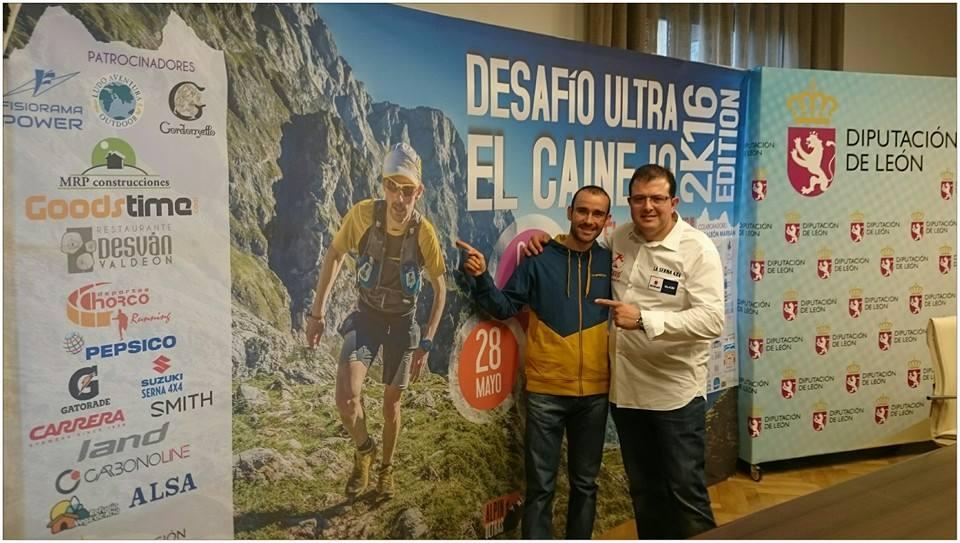 Ander Barrenetxea y Marian Zapico, ganadores de la V Carrera por Montaña de Miranda. /TRAIL CASTILLA Y LEÓN