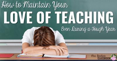 Photo of teacher with head on desk.