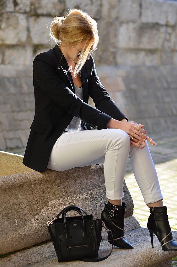 Street styles | Black Leather For Women Fashion