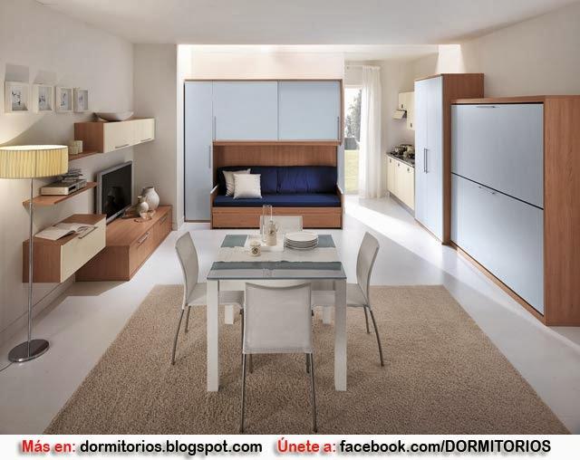 Decoracion monoambiente for Decoracion minimalista para departamentos pequenos
