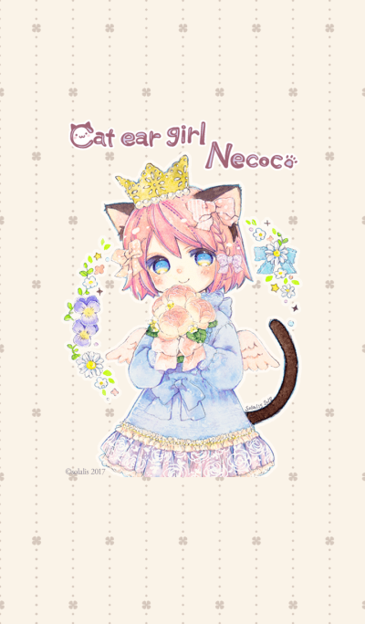 Cat ear girl Necoco 2 Spring rose