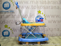Baby Walker Family FB2017LD Car Melody Rocker Blue