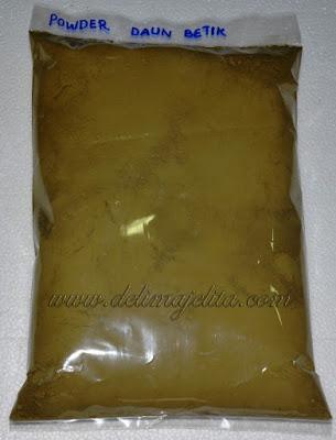 daun betik , Carica papaya Linn , powder daun betik