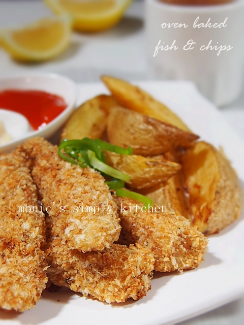 resep oven baked fish and chips
