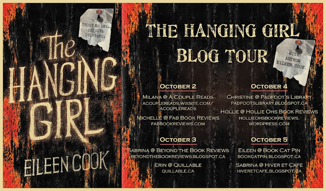 The Hanging Girl Blog Tour postcard